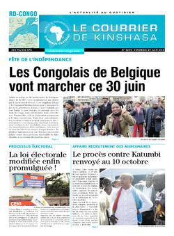 Les Dépêches de Brazzaville : Édition le courrier de kinshasa du 29 juin 2018
