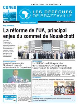 Les Dépêches de Brazzaville : Édition brazzaville du 02 juillet 2018