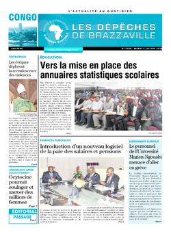 Les Dépêches de Brazzaville : Édition brazzaville du 03 juillet 2018