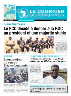 Les Dépêches de Brazzaville : Édition le courrier de kinshasa du 03 juillet 2018