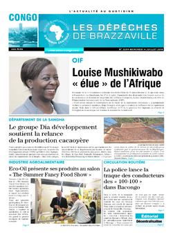 Les Dépêches de Brazzaville : Édition brazzaville du 04 juillet 2018