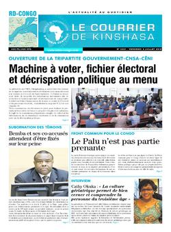 Les Dépêches de Brazzaville : Édition brazzaville du 06 juillet 2018