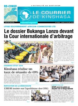 Les Dépêches de Brazzaville : Édition brazzaville du 09 juillet 2018