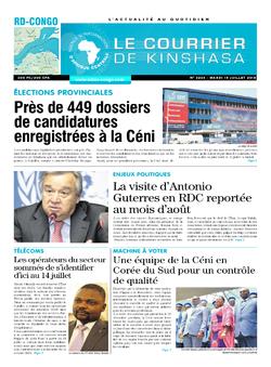 Les Dépêches de Brazzaville : Édition brazzaville du 10 juillet 2018