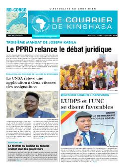 Les Dépêches de Brazzaville : Édition brazzaville du 12 juillet 2018