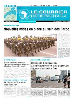 Les Dépêches de Brazzaville : Édition brazzaville du 17 juillet 2018