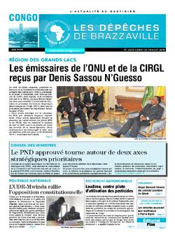 Les Dépêches de Brazzaville : Édition brazzaville du 23 juillet 2018