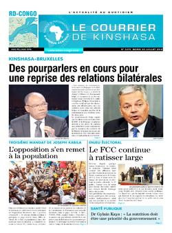 Les Dépêches de Brazzaville : Édition le courrier de kinshasa du 24 juillet 2018