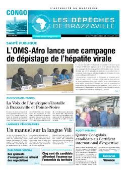 Les Dépêches de Brazzaville : Édition brazzaville du 25 juillet 2018