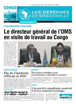 Les Dépêches de Brazzaville : Édition brazzaville du 26 juillet 2018