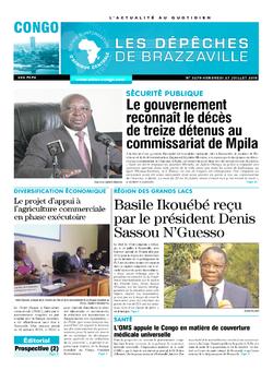 Les Dépêches de Brazzaville : Édition brazzaville du 27 juillet 2018
