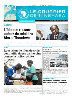 Les Dépêches de Brazzaville : Édition le courrier de kinshasa du 27 juillet 2018