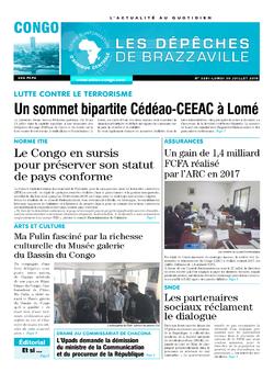 Les Dépêches de Brazzaville : Édition brazzaville du 30 juillet 2018