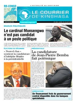 Les Dépêches de Brazzaville : Édition le courrier de kinshasa du 30 juillet 2018