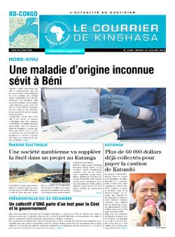 Les Dépêches de Brazzaville : Édition le courrier de kinshasa du 31 juillet 2018