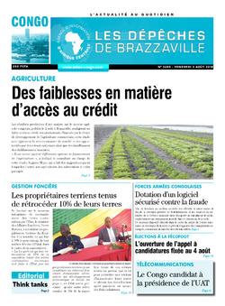 Les Dépêches de Brazzaville : Édition brazzaville du 03 août 2018