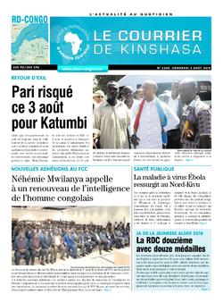 Les Dépêches de Brazzaville : Édition le courrier de kinshasa du 03 août 2018