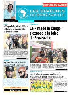 Les Dépêches de Brazzaville : Édition du 6e jour du 04 août 2018