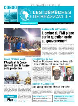 Les Dépêches de Brazzaville : Édition brazzaville du 06 août 2018