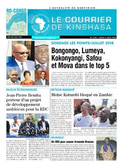 Les Dépêches de Brazzaville : Édition le courrier de kinshasa du 06 août 2018