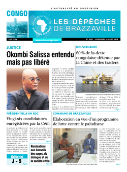 Les Dépêches de Brazzaville : Édition brazzaville du 10 août 2018