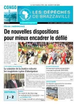 Les Dépêches de Brazzaville : Édition brazzaville du 13 août 2018