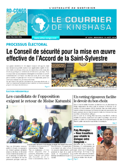 Les Dépêches de Brazzaville : Édition le courrier de kinshasa du 15 août 2018