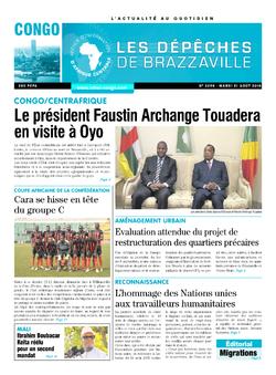 Les Dépêches de Brazzaville : Édition brazzaville du 21 août 2018