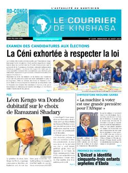 Les Dépêches de Brazzaville : Édition brazzaville du 22 août 2018