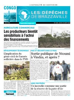 Les Dépêches de Brazzaville : Édition brazzaville du 23 août 2018