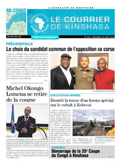 Les Dépêches de Brazzaville : Édition brazzaville du 24 août 2018