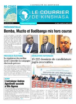 Les Dépêches de Brazzaville : Édition brazzaville du 27 août 2018