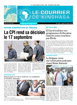 Les Dépêches de Brazzaville : Édition brazzaville du 30 août 2018