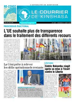 Les Dépêches de Brazzaville : Édition brazzaville du 31 août 2018