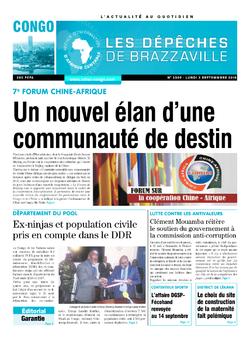 Les Dépêches de Brazzaville : Édition brazzaville du 03 septembre 2018