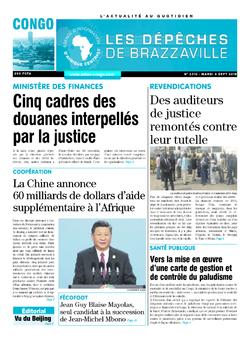 Les Dépêches de Brazzaville : Édition brazzaville du 04 septembre 2018