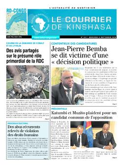 Les Dépêches de Brazzaville : Édition brazzaville du 05 septembre 2018