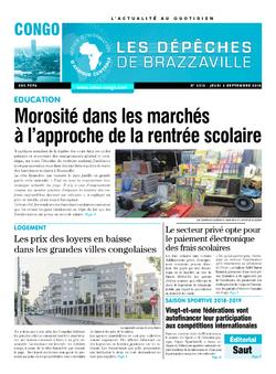 Les Dépêches de Brazzaville : Édition brazzaville du 06 septembre 2018
