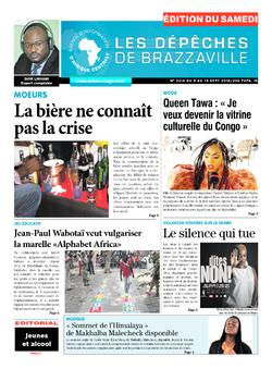 Les Dépêches de Brazzaville : Édition du 6e jour du 08 septembre 2018