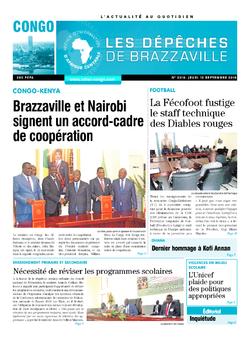 Les Dépêches de Brazzaville : Édition brazzaville du 13 septembre 2018