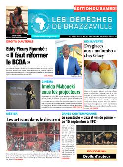 Les Dépêches de Brazzaville : Édition du 6e jour du 15 septembre 2018