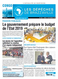 Les Dépêches de Brazzaville : Édition brazzaville du 17 septembre 2018