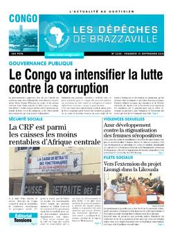 Les Dépêches de Brazzaville : Édition brazzaville du 21 septembre 2018