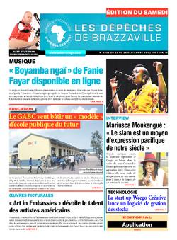 Les Dépêches de Brazzaville : Édition du 6e jour du 22 septembre 2018