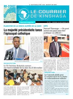 Les Dépêches de Brazzaville : Édition le courrier de kinshasa du 28 septembre 2018