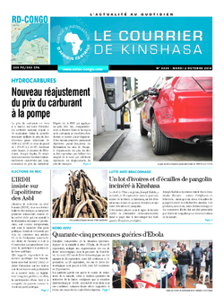 Les Dépêches de Brazzaville : Édition le courrier de kinshasa du 02 octobre 2018