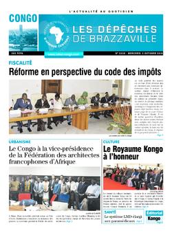 Les Dépêches de Brazzaville : Édition brazzaville du 03 octobre 2018