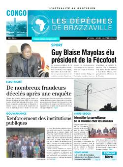Les Dépêches de Brazzaville : Édition brazzaville du 04 octobre 2018