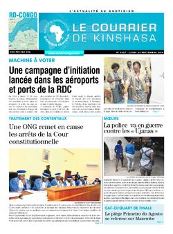 Les Dépêches de Brazzaville : Édition le courrier de kinshasa du 05 octobre 2018