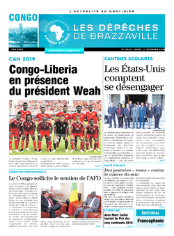 Les Dépêches de Brazzaville : Édition brazzaville du 11 octobre 2018